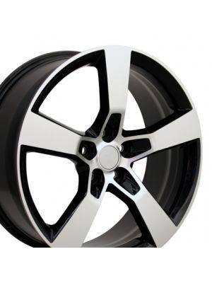 5th Gen Camaro SS Style Wheel, Machined Black 20