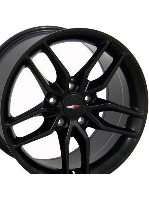 C7 Corvette Stingray Wheel - Matte Black 17x9.5