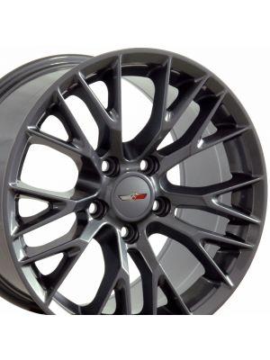 C7 Z06 Wheel, Gunmetal (Competition Grey) 17x9.5