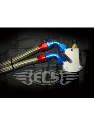 ECS Billet Oil Line Adapter Block