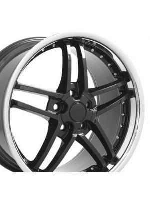 C6 Z06 Style Wheel Black 19x10 (Rear)