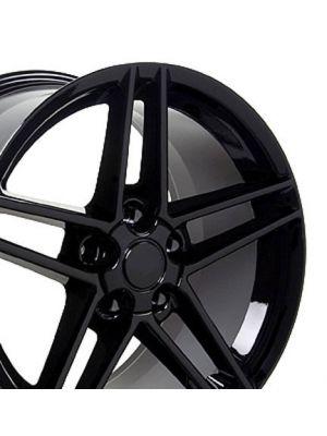 C6 Z06 Style Wheel Black 19x10