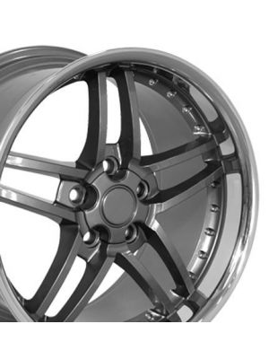 C6 Z06 Style Wheel Gunmetal 19x10 (Rear)
