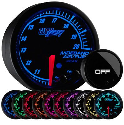 Glow Shift Wideband A/F Gauge & Sensor
