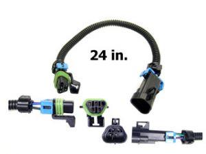 O2 Sensor Extension Harness, Black Trapezoid