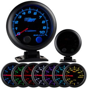 Glow Shift Tinted 7 Color 3 3/4 Tachometer w/ Shift Light