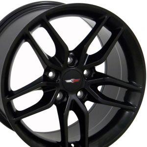 C7 Corvette Stingray Wheel - Matte Black 18x10.5