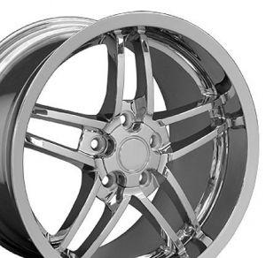 C6 Z06 Style Deep Dish Wheel Chrome 18x10.5 (Rear)